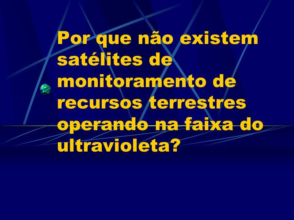 Por que não existem satélites de monitoramento de recursos terrestres operando na faixa do ultravioleta