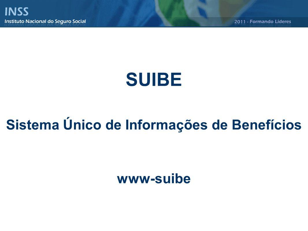 SUIBE Sistema Único de Informações de Benefícios www-suibe