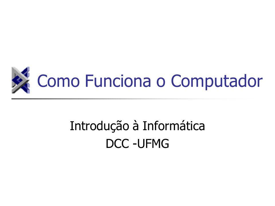 Como Funciona o Computador Introdução à Informática DCC -UFMG