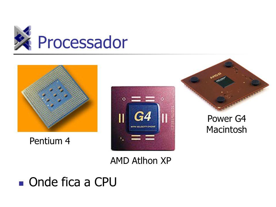 Processador Pentium 4 AMD Atlhon XP Power G4 Macintosh Onde fica a CPU