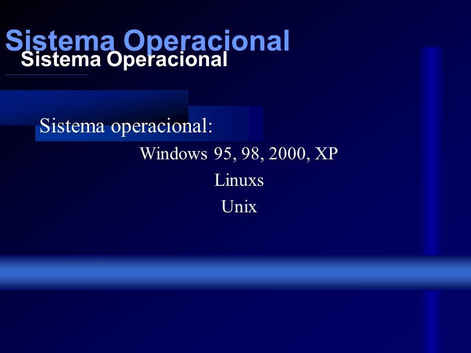 Placas e Driver Driver: Leitoras de disquete, CD-ROM, DVD ROM, gravadoras de CDs... Placas: Vídeo 8, 16, 32, 64 MB (GForçe,TNT, Vodoo, RIVA...) Som KI