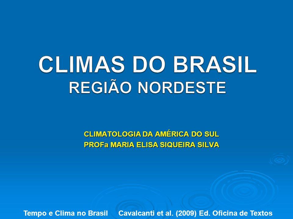 CLIMATOLOGIA DA AMÉRICA DO SUL PROFa MARIA ELISA SIQUEIRA SILVA Tempo e Clima no Brasil Cavalcanti et al. (2009) Ed. Oficina de Textos