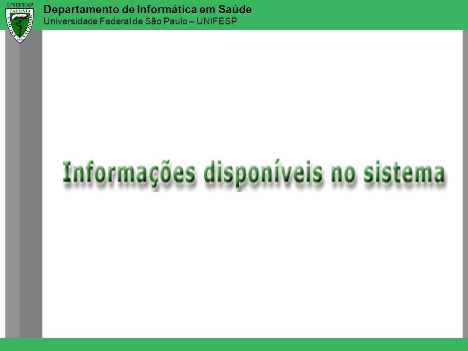 Departamento de Informática em Saúde Universidade Federal de São Paulo – UNIFESP UNIFESP