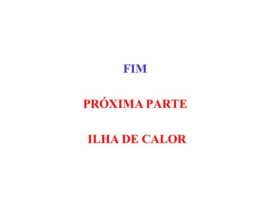 FIM PRÓXIMA PARTE ILHA DE CALOR