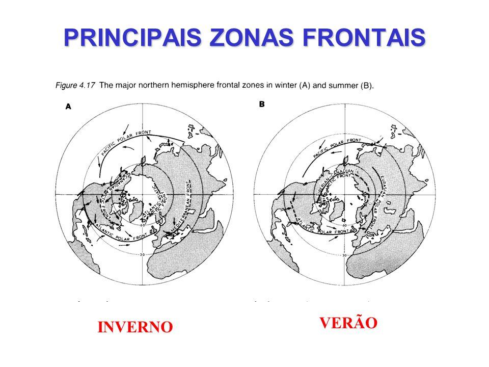 PRINCIPAIS ZONAS FRONTAIS VERÃO INVERNO