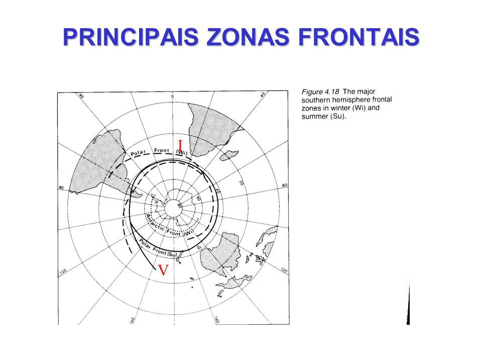 PRINCIPAIS ZONAS FRONTAIS I V