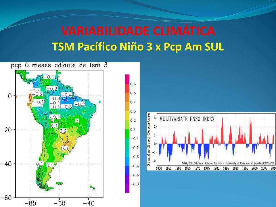 VARIABILIDADE CLIMÁTICA TSM Pacífico Niño 3 x Pcp Am SUL