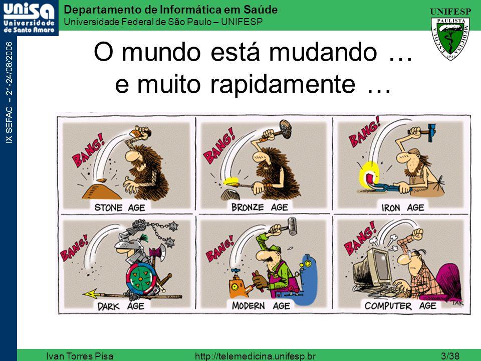UNIFESP Departamento de Informática em Saúde Universidade Federal de São Paulo – UNIFESP IX SEFAC – 21-24/08/2006 Ivan Torres Pisahttp://telemedicina.unifesp.br34/38 TI em Saúde – PACS/DICOM Clinic Manager, DIS, UNIFESP, e MIDster, Ivan Pisa.