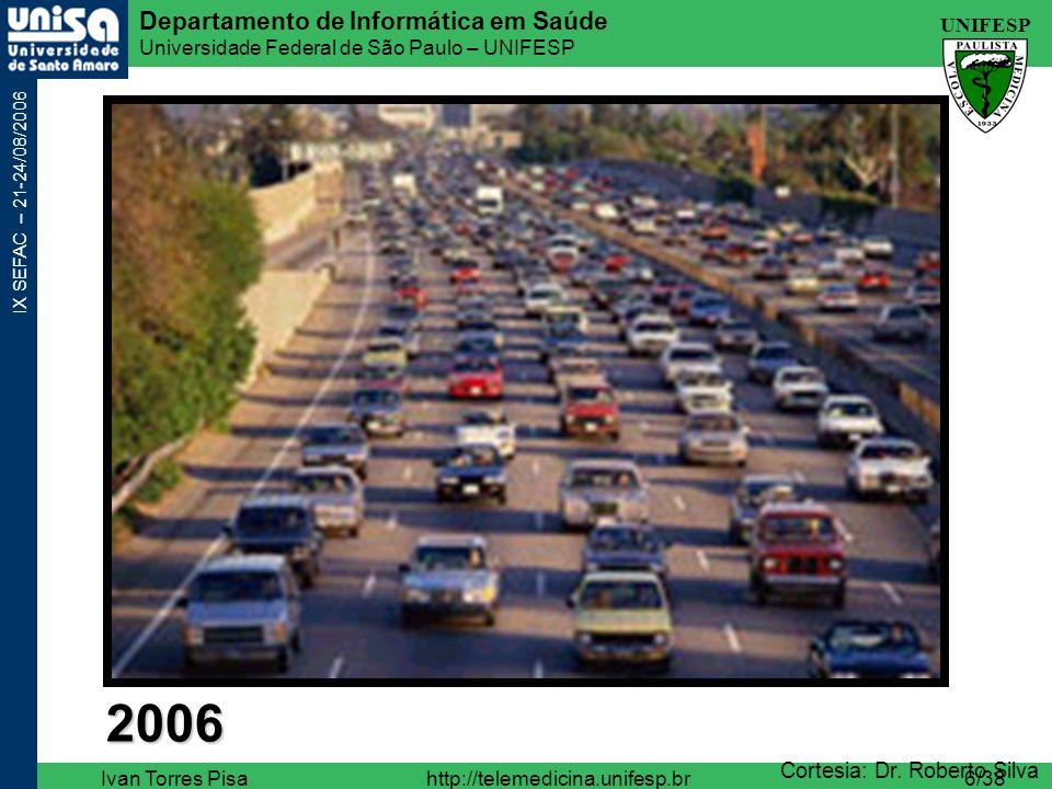 UNIFESP Departamento de Informática em Saúde Universidade Federal de São Paulo – UNIFESP IX SEFAC – 21-24/08/2006 Ivan Torres Pisahttp://telemedicina.unifesp.br27/38 Telepresença Robodoc Robodoc (Johns Hopkins) Nursebot Nursebot (Universidades de Pittsburgh e Carnegie )