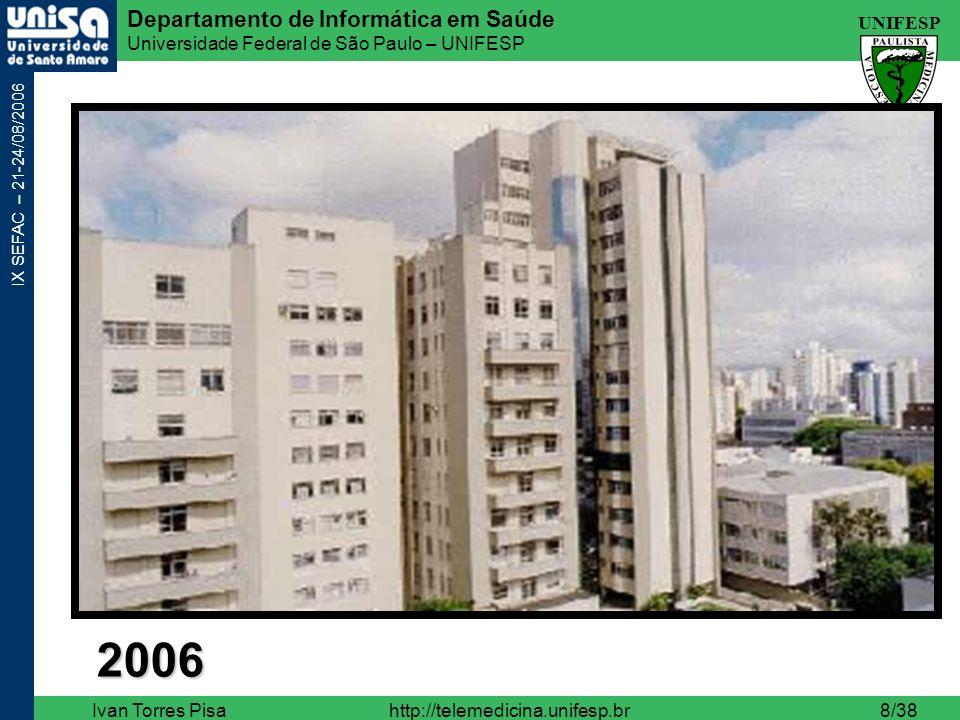 UNIFESP Departamento de Informática em Saúde Universidade Federal de São Paulo – UNIFESP IX SEFAC – 21-24/08/2006 Ivan Torres Pisahttp://telemedicina.unifesp.br19/38 O que a telemedicina NÃO é .