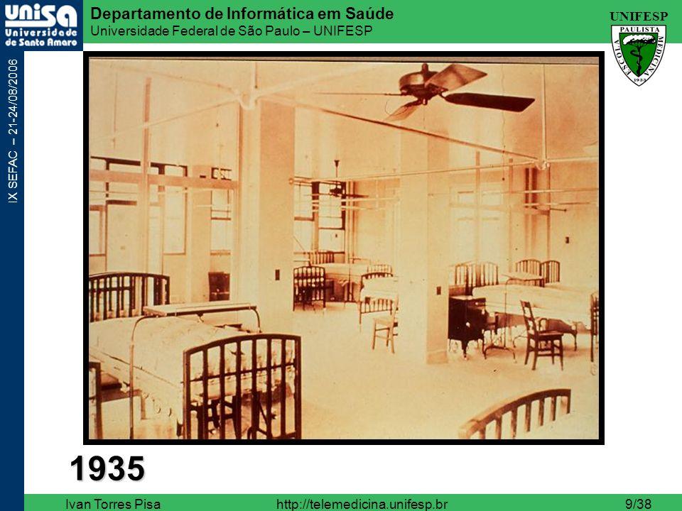 UNIFESP Departamento de Informática em Saúde Universidade Federal de São Paulo – UNIFESP IX SEFAC – 21-24/08/2006 Ivan Torres Pisahttp://telemedicina.unifesp.br10/38 2006
