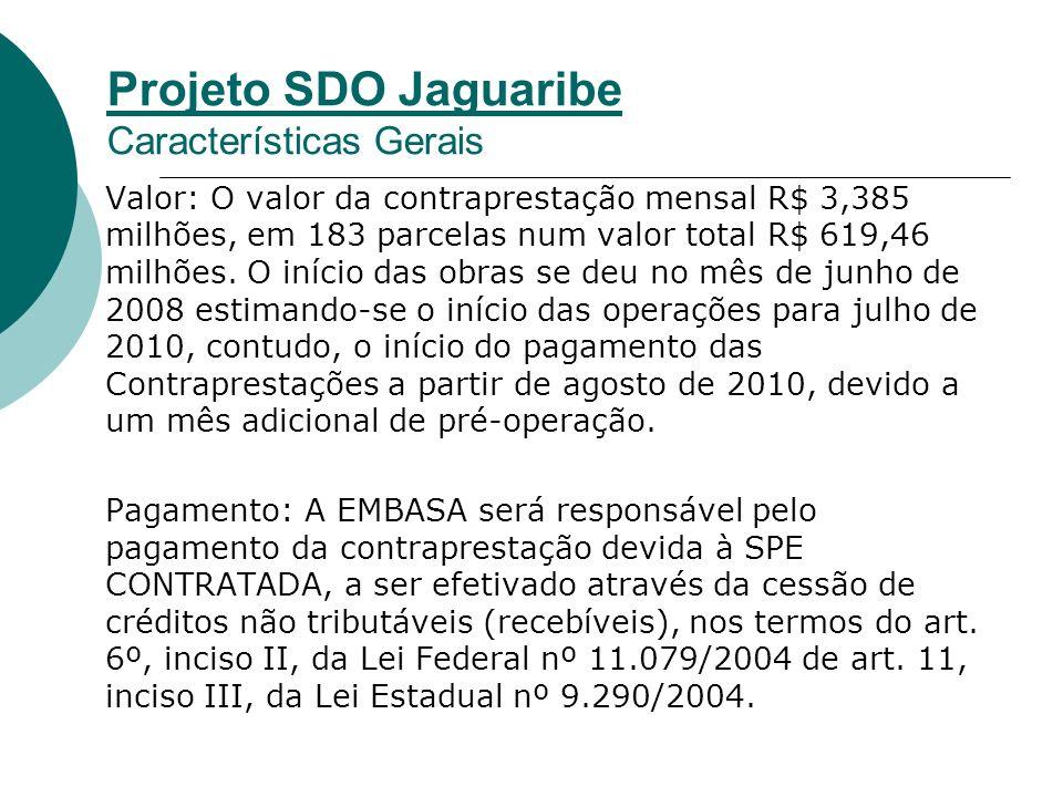 Valor: O valor da contraprestação mensal R$ 3,385 milhões, em 183 parcelas num valor total R$ 619,46 milhões.