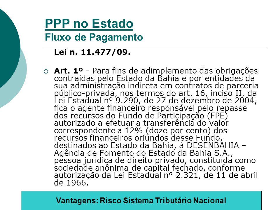 PPP no Estado Fluxo de Pagamento Lei n. 11.477/09.