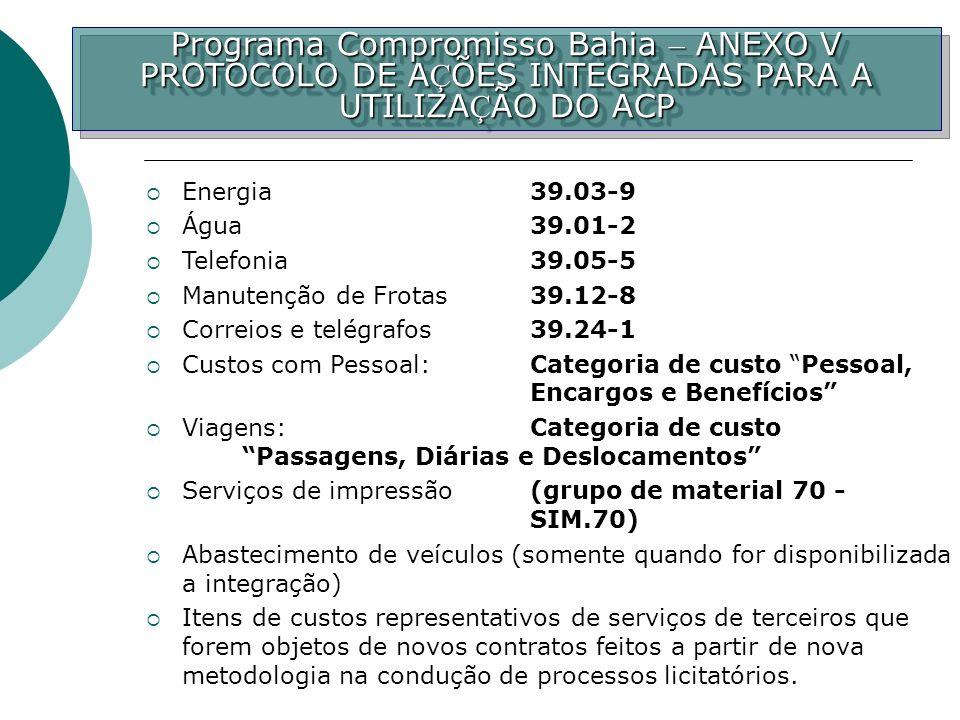 Programa Compromisso Bahia – ANEXO V PROTOCOLO DE A Ç ÕES INTEGRADAS PARA A UTILIZA Ç ÃO DO ACP Programa Compromisso Bahia – ANEXO V PROTOCOLO DE A Ç