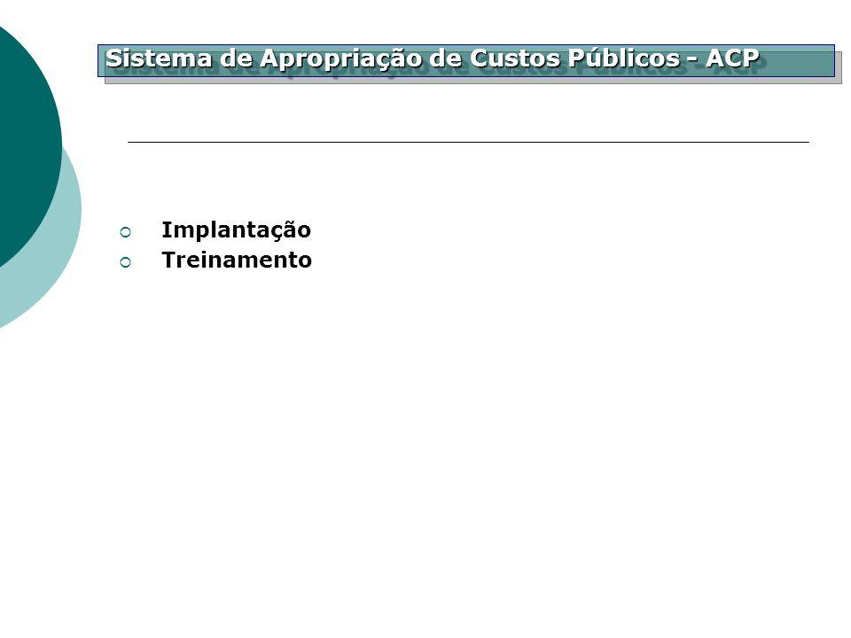 Implantação Treinamento Sistema de Apropriação de Custos Públicos - ACP