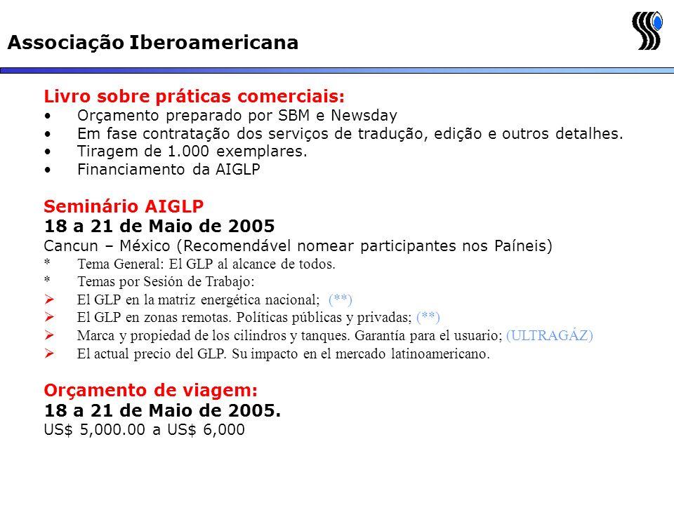 Associação Iberoamericana Livro sobre práticas comerciais: Orçamento preparado por SBM e Newsday Em fase contratação dos serviços de tradução, edição
