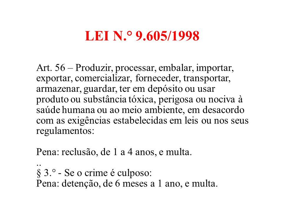 LEI N.° 9.605/1998 Art.