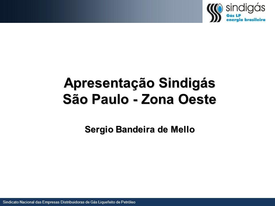 Sindicato Nacional das Empresas Distribuidoras de Gás Liquefeito de Petróleo Apresentação Sindigás São Paulo - Zona Oeste Sergio Bandeira de Mello