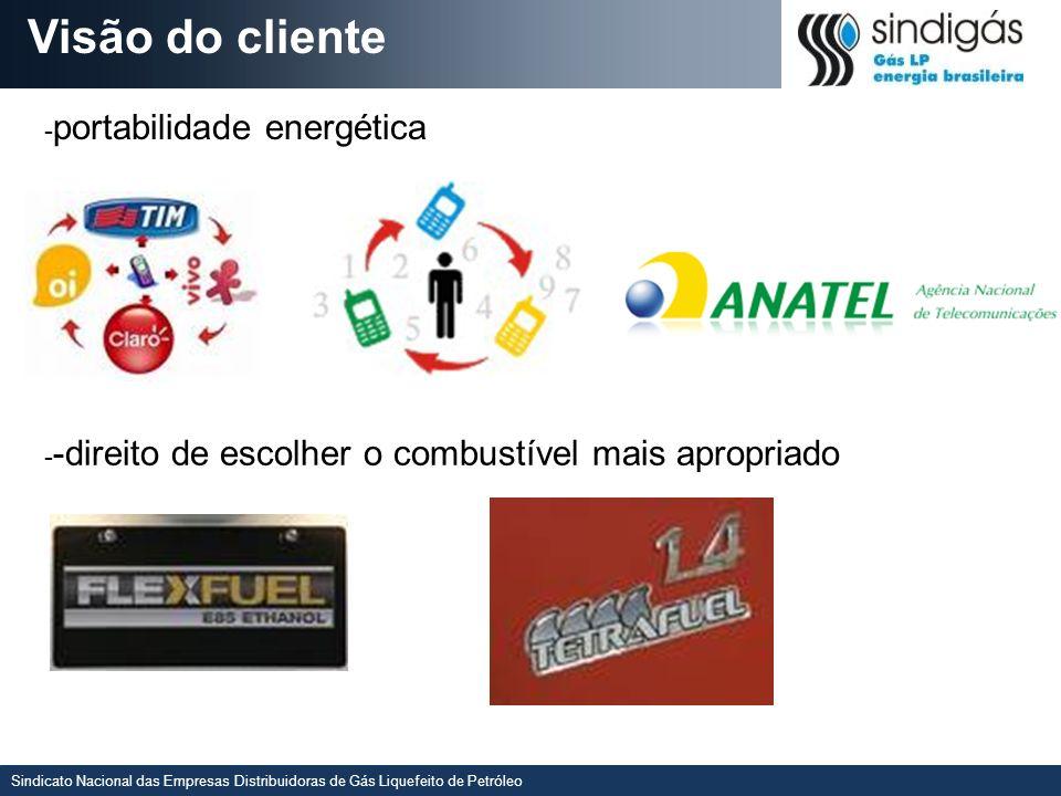 Sindicato Nacional das Empresas Distribuidoras de Gás Liquefeito de Petróleo Visão do cliente - portabilidade energética - -direito de escolher o comb