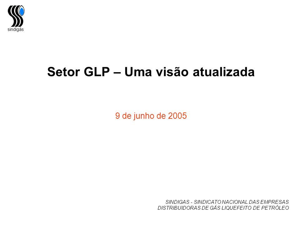 sindigás Setor GLP – Uma visão atualizada 9 de junho de 2005 SINDIGAS - SINDICATO NACIONAL DAS EMPRESAS DISTRIBUIDORAS DE GÁS LIQUEFEITO DE PETRÓLEO