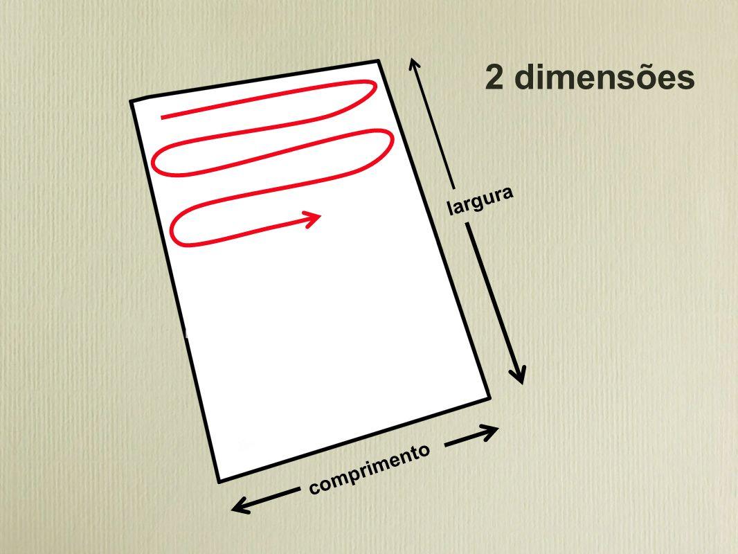 comprimento largura 2 dimensões