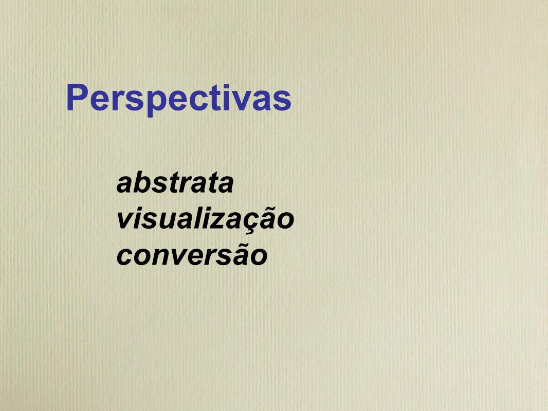 Perspectivas abstrata visualização conversão