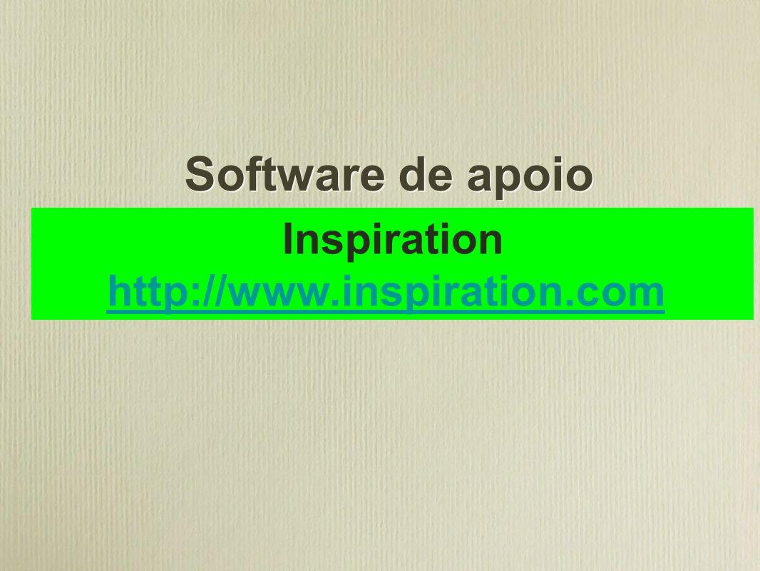 Software de apoio Inspiration http://www.inspiration.com