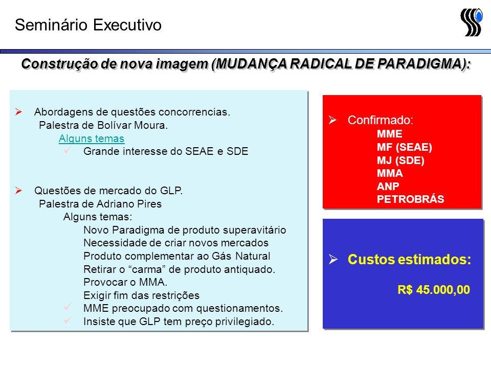 Seminário Executivo Abordagens de questões concorrencias. Palestra de Bolívar Moura. Alguns temas Grande interesse do SEAE e SDE Questões de mercado d