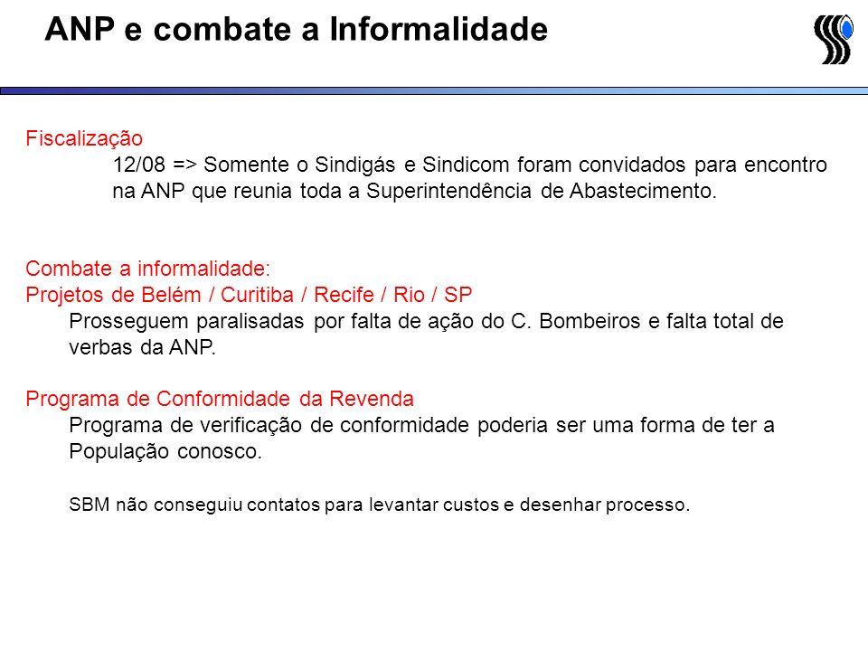 ANP e combate a Informalidade Fiscalização 12/08 => Somente o Sindigás e Sindicom foram convidados para encontro na ANP que reunia toda a Superintendê