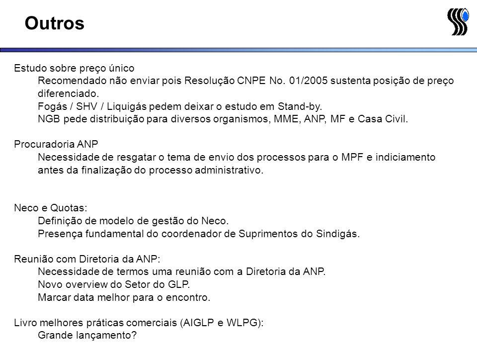 Outros Estudo sobre preço único Recomendado não enviar pois Resolução CNPE No. 01/2005 sustenta posição de preço diferenciado. Fogás / SHV / Liquigás