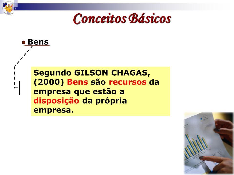 Segundo GILSON CHAGAS, (2000) Bens são recursos da empresa que estão a disposição da própria empresa.