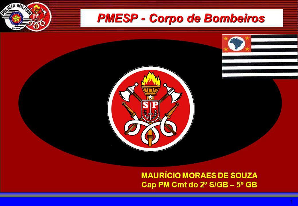 1 MAURÍCIO MORAES DE SOUZA Cap PM Cmt do 2º S/GB – 5º GB PMESP - Corpo de Bombeiros