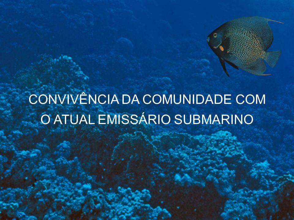 CONVIVÊNCIA DA COMUNIDADE COM O ATUAL EMISSÁRIO SUBMARINO