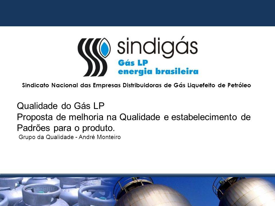 Sindicato Nacional das Empresas Distribuidoras de Gás Liquefeito de Petróleo Qualidade do Gás LP Proposta de melhoria na Qualidade e estabelecimento de Padrões para o produto.