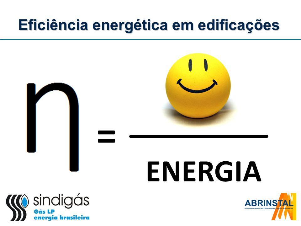 Eficiência ampla: caso brasileiro Aplicação do fator para o aquecimento de água Chuveiro elétrico Aquecedor a gás