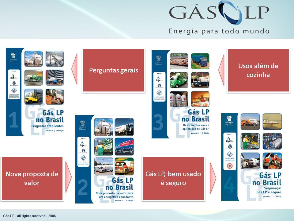 Perguntas gerais Usos além da cozinha Gás LP, bem usado é seguro Nova proposta de valor