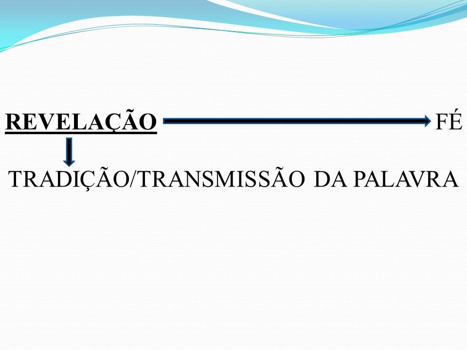 TRADIÇÃO/TRANSMISSÃO DA PALAVRA