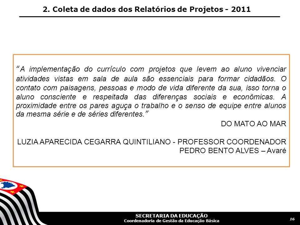 SECRETARIA DA EDUCAÇÃO Coordenadoria de Gestão da Educação Básica 17 2.