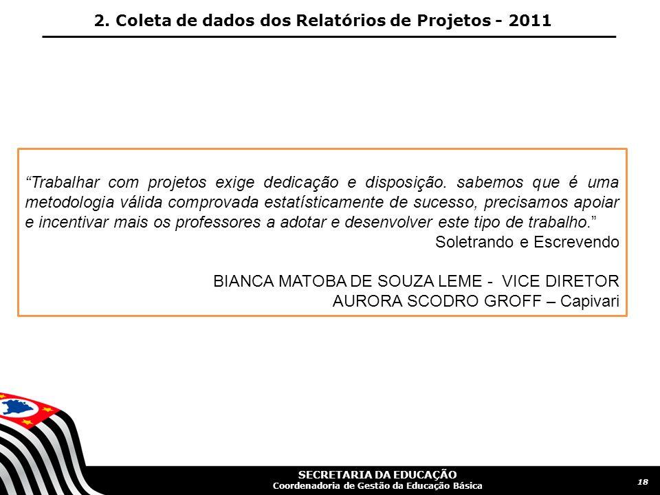 SECRETARIA DA EDUCAÇÃO Coordenadoria de Gestão da Educação Básica 19 2.