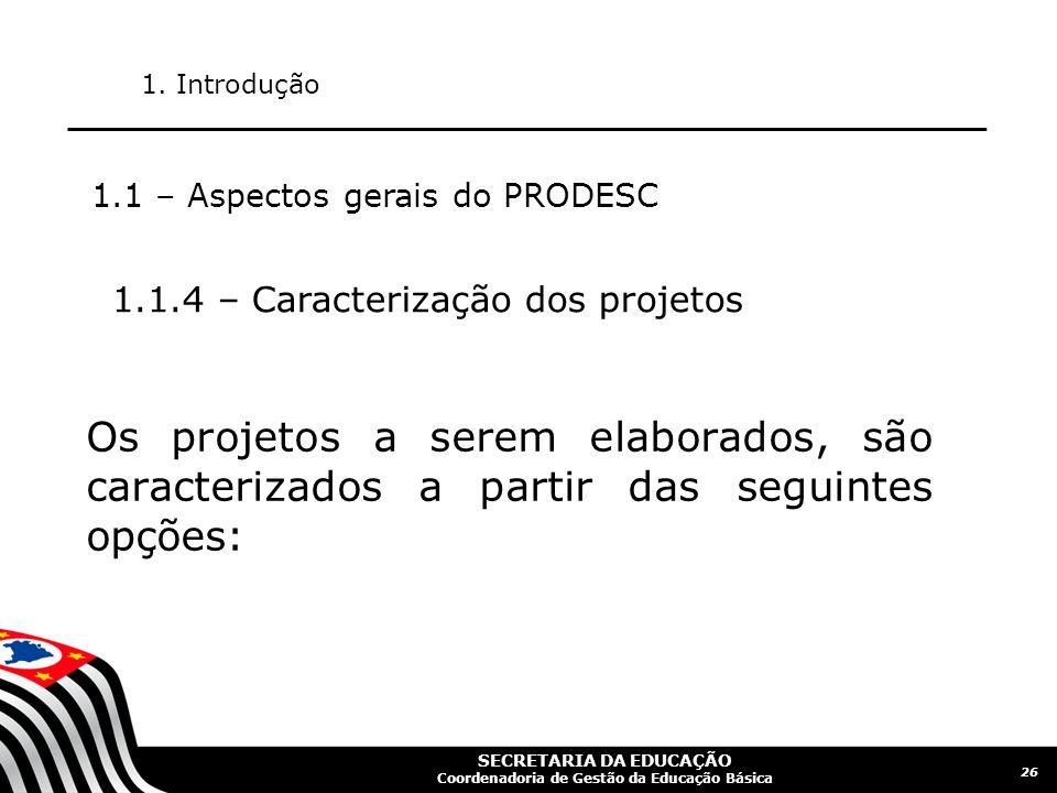 SECRETARIA DA EDUCAÇÃO Coordenadoria de Gestão da Educação Básica 27 1.