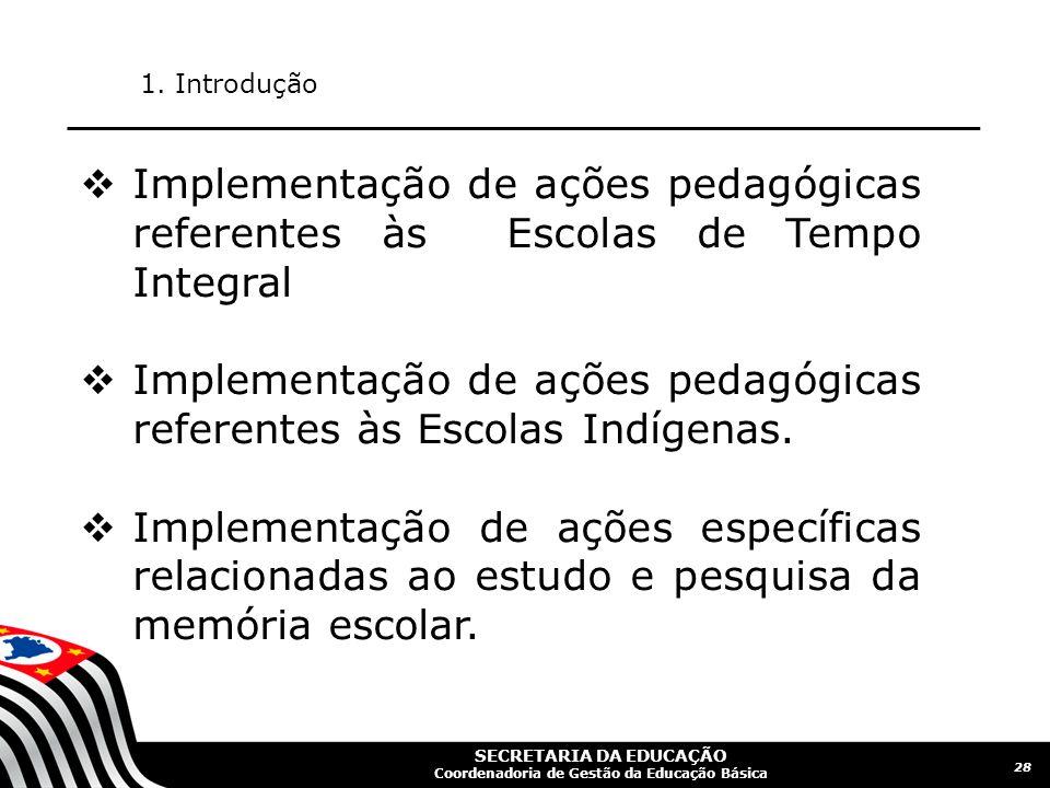 SECRETARIA DA EDUCAÇÃO Coordenadoria de Gestão da Educação Básica 29 1.