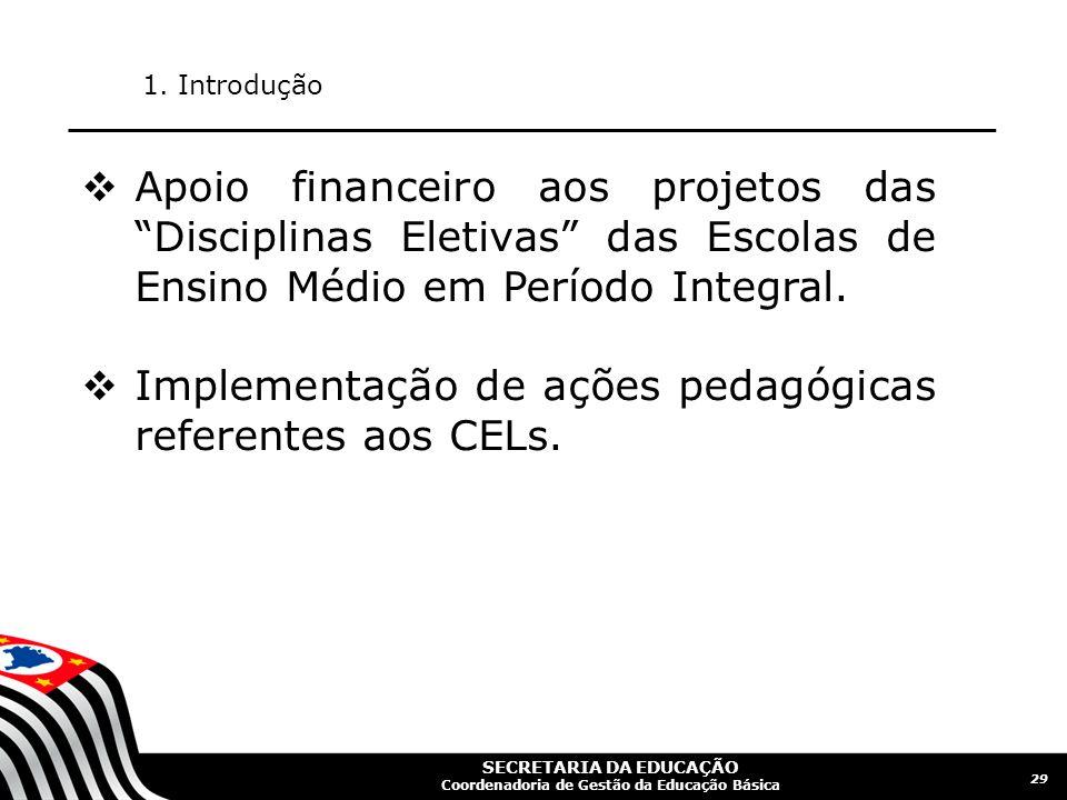 SECRETARIA DA EDUCAÇÃO Coordenadoria de Gestão da Educação Básica 30 1.
