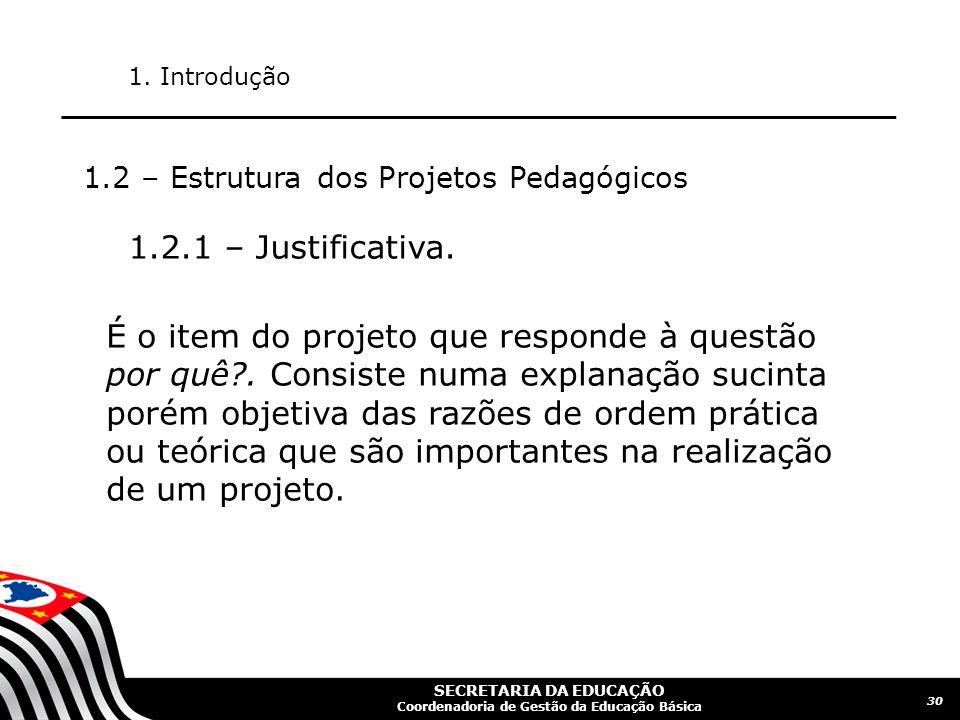 SECRETARIA DA EDUCAÇÃO Coordenadoria de Gestão da Educação Básica 31 1.