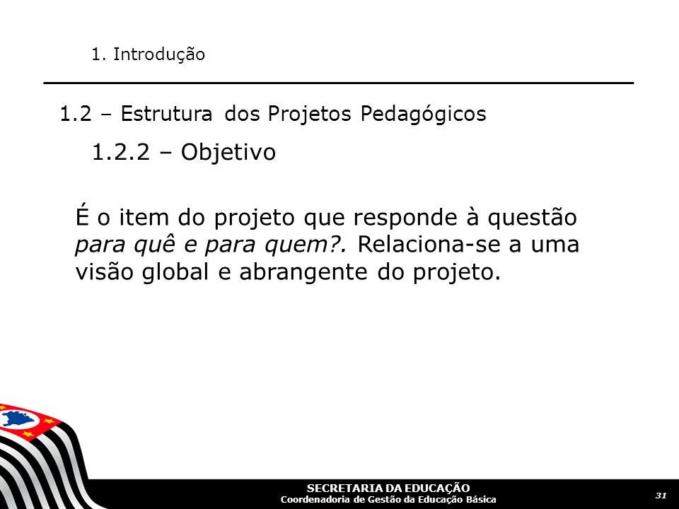 SECRETARIA DA EDUCAÇÃO Coordenadoria de Gestão da Educação Básica 32 1.