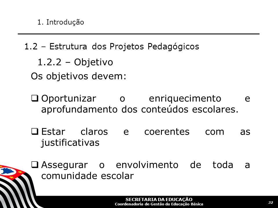 SECRETARIA DA EDUCAÇÃO Coordenadoria de Gestão da Educação Básica 33 1.