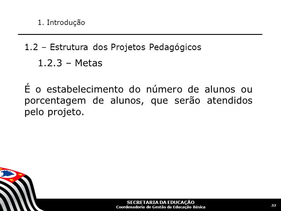 SECRETARIA DA EDUCAÇÃO Coordenadoria de Gestão da Educação Básica 34 1.