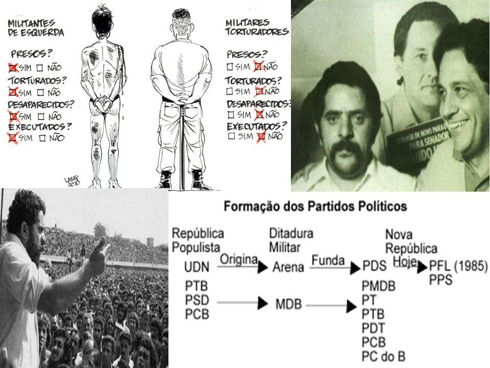 Em 1982 foram realizadas eleições Diretas para Governador; em 12 estados o PDS venceu, em 10 estados venceu a oposição.