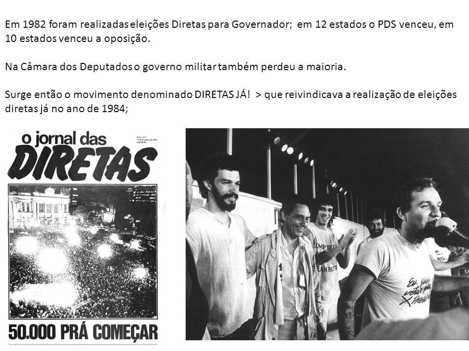 Em São Paulo, janeiro de 1984 mais de 1,5 milhão de pessoas se reuniram no Comício das Diretas
