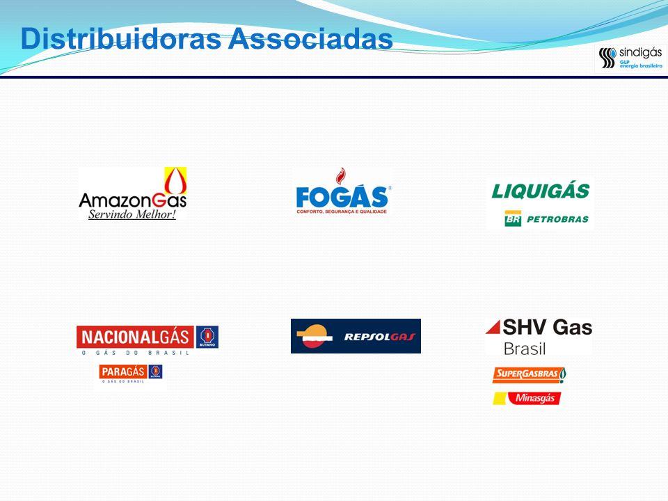 Gás LP no Brasil Caracteristicas: - 21 distribuidoras autorizadas pela ANP; 16 grupos econômicos; - O Brasil consumiu, em 2006, 6,6 milhões de toneladas de Gás LP; Previsão de auto-suficiência de GLP; - 99 milhões de botijões (13 kg) circulando no mercado; Segmento granel é o que oferece maior potencial de crescimento na atualidade.