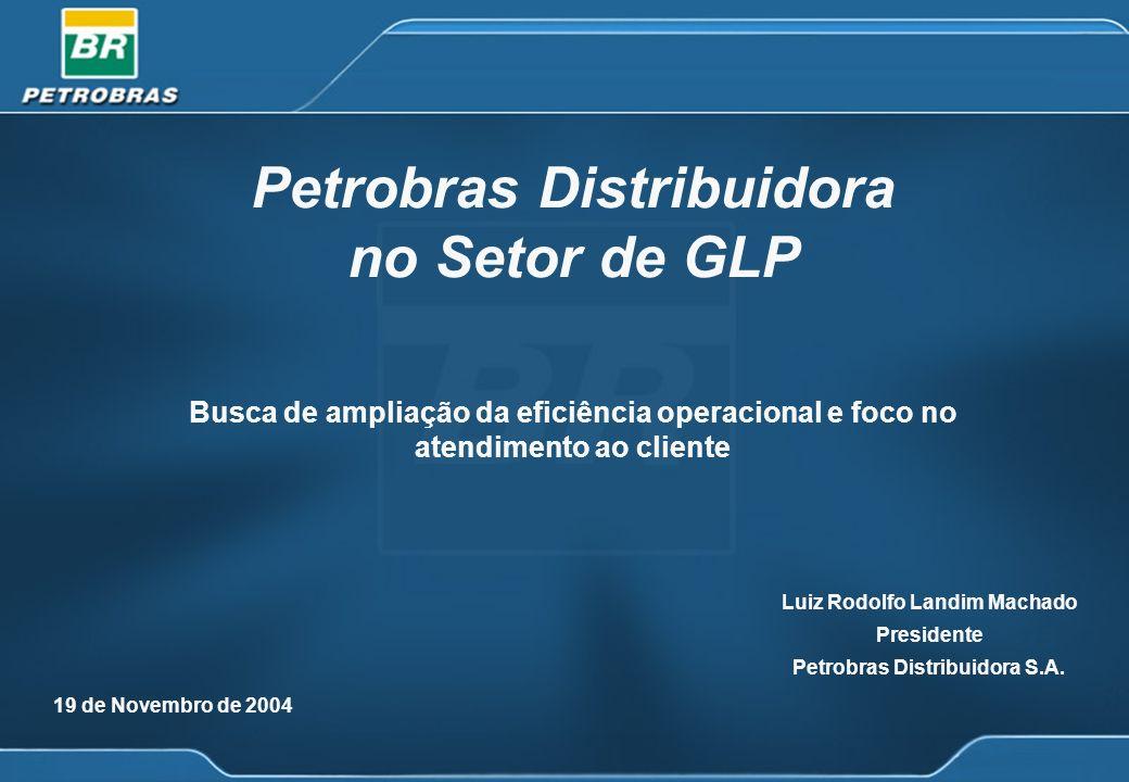 19 de Novembro de 2004 Petrobras Distribuidora no Setor de GLP Busca de ampliação da eficiência operacional e foco no atendimento ao cliente Luiz Rodo